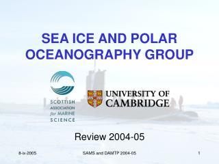 SEA ICE AND POLAR  OCEANOGRAPHY GROUP