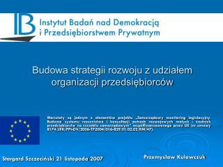 Budowa strategii rozwoju z udziałem organizacji przedsiębiorców