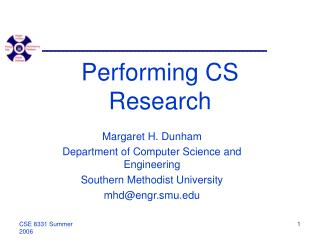 Performing CS Research
