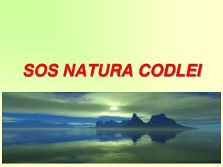 SOS NATURA CODLEI