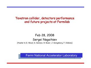 Tevatron  collider, detectors performance  and future projects at  Fermilab