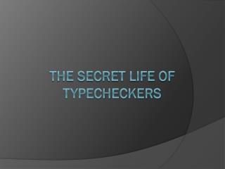 The secret life of  typecheckers