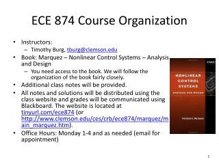 ECE 874 Course Organization