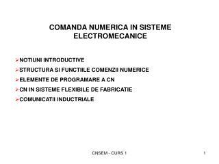 CNSEM - CURS 1