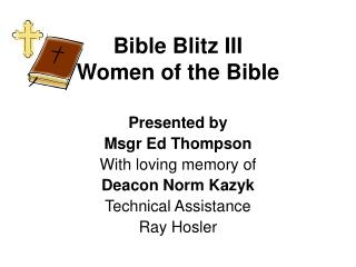 Bible Blitz III Women of the Bible
