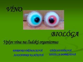 Vplyv vína na ľudský organizmus