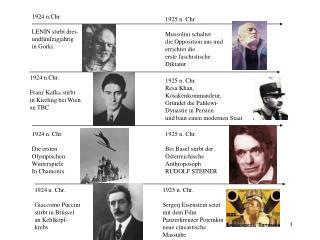 1924 n.Chr.  LENIN stirbt drei- undf nfzigj hrig in Gorki.