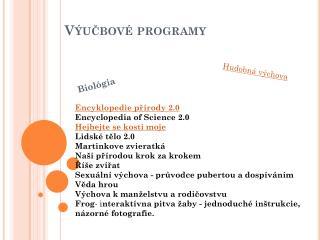 Výučbové programy