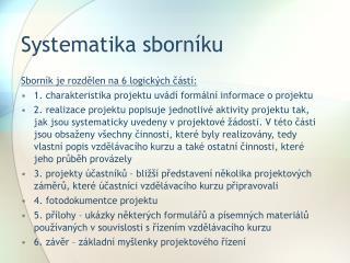 Systematika sborníku