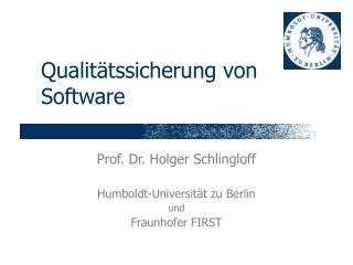 Qualitätssicherung von Software