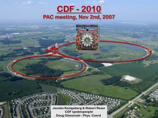 CDF - 2010 PAC meeting, Nov 2nd, 2007