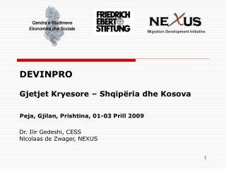 DEVINPRO  Gjetjet Kryesore   Shqip ria dhe Kosova