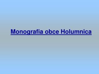 Monografia obce Holumnica