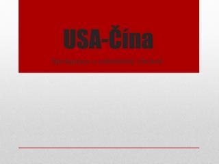 USA-Čína