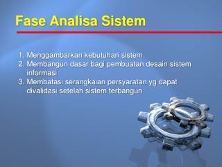 Fase Analisa Sistem