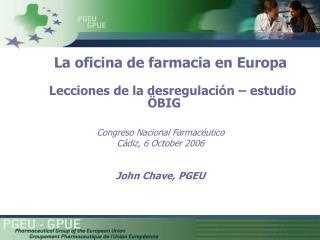 La oficina de farmacia en Europa Lecciones de la desregulación – estudio  Ö BIG