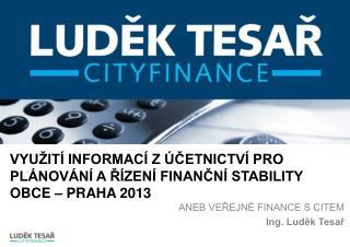 Využití informací z účetnictví pro plánování a řízení finanční stability obce – Praha 2013