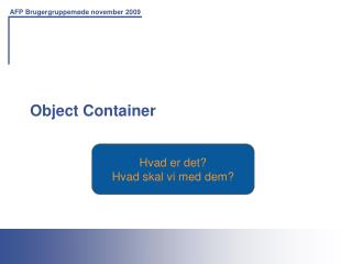 Object Container