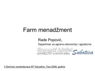 Farm menadžment