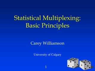 Statistical Multiplexing:  Basic Principles
