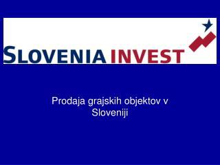 Prodaja grajskih objektov v Sloveniji