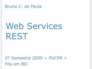 Web Services REST