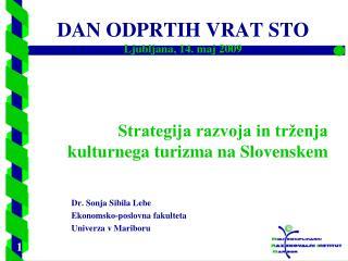 Strategija razvoja in trženja kulturnega turizma na Slovenskem