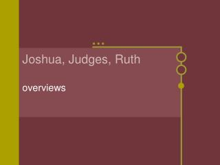 Joshua, Judges, Ruth