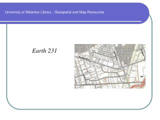 University of Waterloo Library : Geospatial and Map Resources