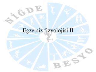 Egzersiz fizyolojisi II