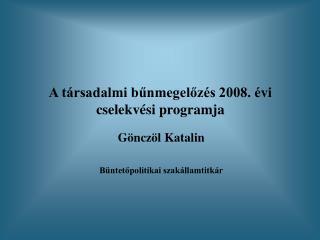 A társadalmi bűnmegelőzés 2008. évi cselekvési programja