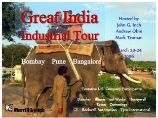 Great India  Industrial Tour