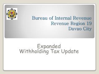 Bureau of Internal Revenue Revenue Region 19 Davao City