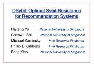 DSybil: Optimal Sybil-Resistance for Recommendation Systems