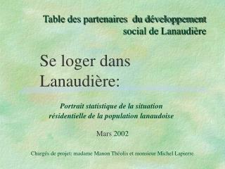 Table des partenaires  du développement social de Lanaudière