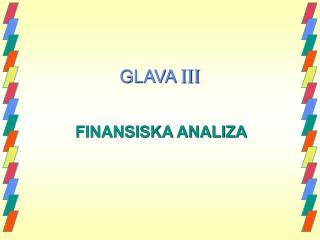 GLAVA  III