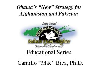 "Obama's ""New"" Strategy for Afghanistan and Pakistan"