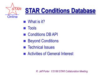 STAR Conditions Database