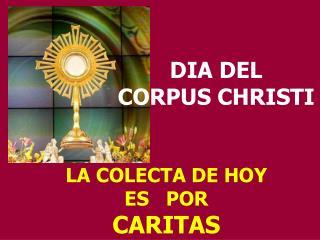 LA COLECTA DE HOY                     ES   POR CARITAS