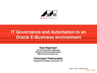 IT Governance and Automation in an Oracle E-Business environment