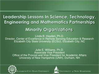Leadership Lessons In Science, Technology, Engineering and Mathematics Partnerships