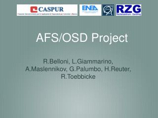 AFS/OSD Project