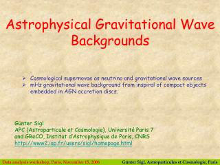 Cosmological supernovae as neutrino and gravitational wave sources