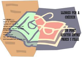 CAP FALSET EQUIP DE PEDIATRIA TELÈFON 977 83 09 65 falset.tarte.ics@gencat