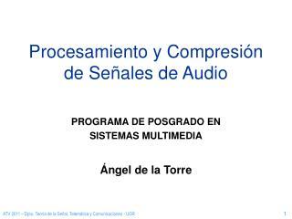Procesamiento y Compresión de Señales de Audio
