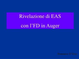 Rivelazione di EAS con l'FD in Auger