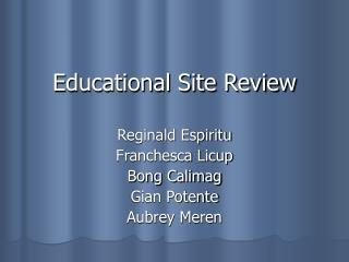 Educational Site Review