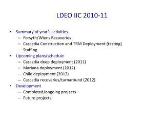 LDEO IIC 2010-11