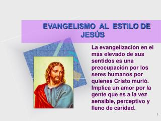 EVANGELISMO  AL  ESTILO DE JESÚS