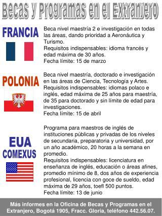 Becas y Programas en el Extranjero